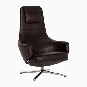Dark Brown Leather Repos Relax Function Armchair by Antonio Citterio for Vitra