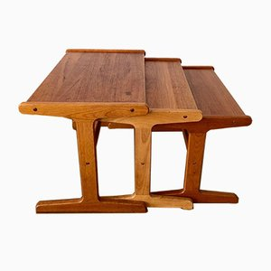 Tables Gigognes en Teck, Danemark, 1970s