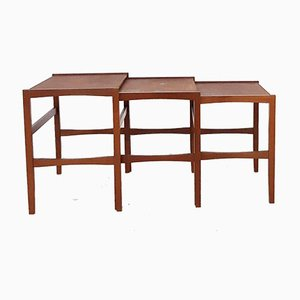 Mid-Century Teak Nesting Tables, the Netherlands, 1960s