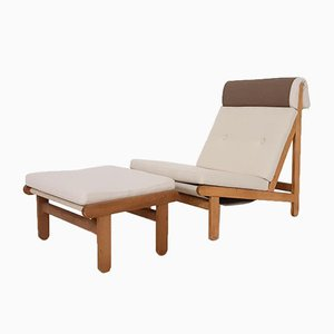 Rag Lounge Chairs & Ottoman by Brent Petersen for Schiang, Denmark, 1965, Set of 6
