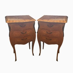 Rosewood Nightstands, 1920s, Set of 2