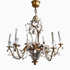 Iron and Crystal Chandelier by Banci Firenze, 1972