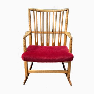 Rocking Chair ML33 en Chêne par Hans J. Wegner pour A / S Mikael Laursen, 1950s