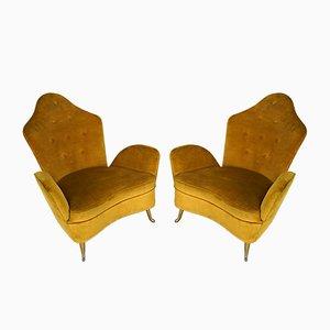 Italienische Mid-Century Sessel von Cesare Lacca für ISA Bergamo, 1950er, 2er Set