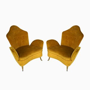 Mid-Century Italian Armchairs by Cesare Lacca for ISA Bergamo, 1950s, Set of 2
