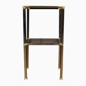 Italian Metal and Glass Side Table, 1980s