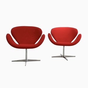 Model Swan Lounge Chairs by Arne Jacobsen, 1959, Set of 2