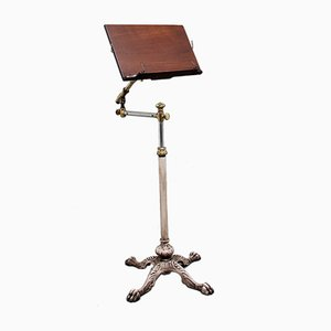 19th Century Brass and Mahogany Reading Stand