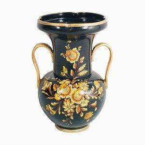 Vaso grande neoclassico in terracotta decorata a mano di Telatin per Nove Bassano, 1848