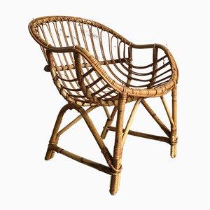 Stühle aus Korbgeflecht, 1960er, 2er Set
