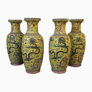 Vasi grandi antichi in porcellana, Cina, set di 4