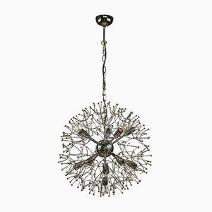 Große Chrom Dandelion Sputnik Kugel Hängelampe von Gaetano Sciolari, 1960er