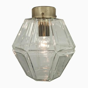 Vintage Glass Rhombus Ceiling Lamp from Limburg