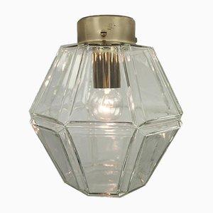 Vintage Glass Rhombus Ceiling Lamp from Limburg