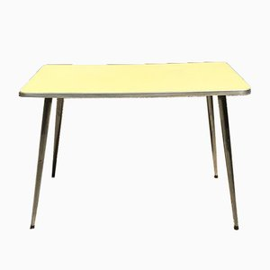 Yellow Formica Kitchen Table, 1960s
