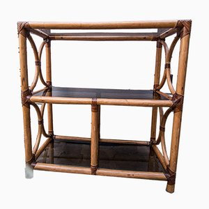 Bamboo Serving Trolley, 1980s