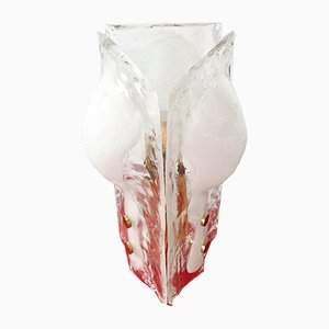 3-Petal Icicle Flower and Melting Glass Table Lamp by J. T. Kalmar for Kalmar Franken KG, 1960s