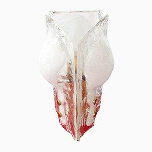 Lampada da tavolo a forma di fiore e con tre petali in vetro di JT Kalmar per Kalmar Franken KG, anni '60