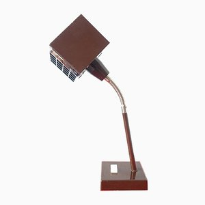 Metal Cube Desk Lamp by Hans-Agne Jakobsson for Elidus, 1970s