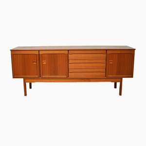 Sideboard with 3 Doors and 3 Drawers in Blond Teak, 1960s