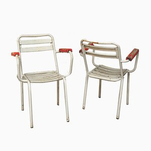 Chairs by Xavier Pauchard for Tolix, France, 1950s, Set of 4
