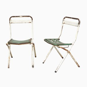Folding Chairs by Xavier Pauchard for Tolix, France, 1950s, Set of 2