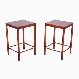 Mid-Century Danish Teak Side Tables from Fritz Hansen, 1960s, Set of 2