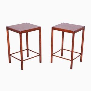 Tables d'Appoint Mid-Century en Teck de Fritz Hansen, Danemark, 1960s, Set de 2