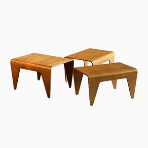 Beech Plywood Nesting Tables by Marcel Breuer for Isokon, 1930s