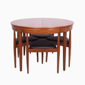Mid-Century Teak Esstisch & Stühle Set von Hans Olsen für Frem Røjle, 1960er, 5er Set