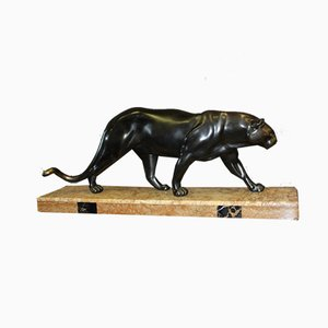 Art Deco Panther Sculpture by Rulas, 1930s