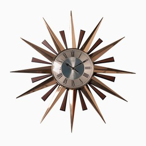 Sun Wall Clock from Metamec, Great Britain, 1970s