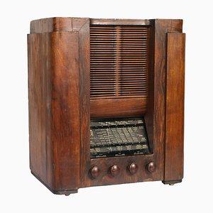 Radio tubo Art Déco de Magnadyne, años 30