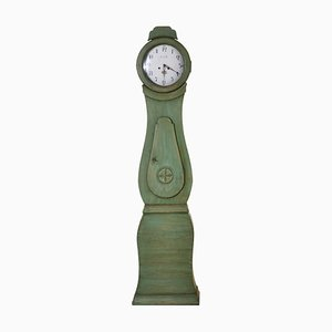 Antique Mora Clock in Original Green Paint