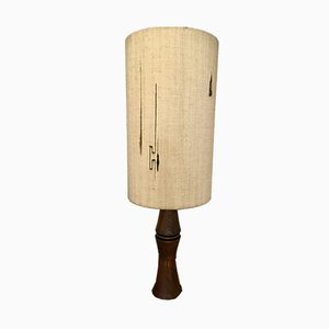 Vintage Table Lamp with Woven Lampshade from Planeix, France, 1960s