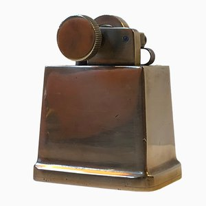 Art Deco Cigar Table Lighter in Bronze from Tinos, 1930s