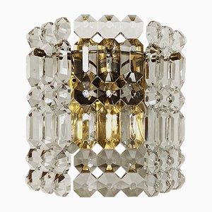 Kristallglas Wandlampen von Kinkeldey, 1960er, 2er Set