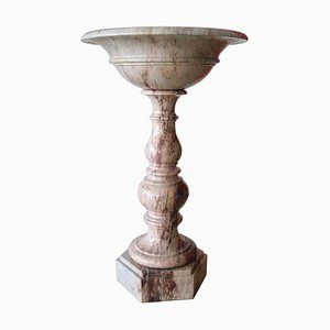 19th Century Italian Hand-Carved Marble Font