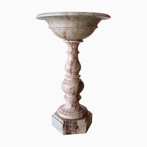 Fonte tipografica in marmo intagliato a mano, Italia, XIX secolo