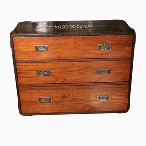 Antique Campaign Chest of Drawers