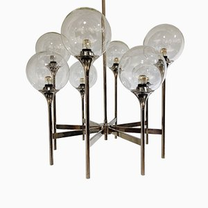 Vintage Glass Globe Chandelier from Boulanger, 1970s