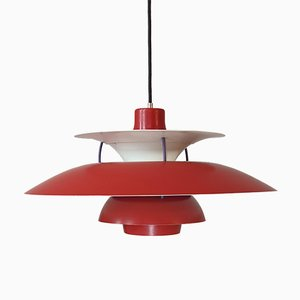 Vintage Red PH5 Pendant Lamp by Poul Henningsen for Louis Poulsen, 1960s