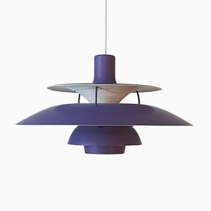 Vintage Purple PH 5 Pendant Lamp by Poul Henningsen for Louis Poulsen, 1960s