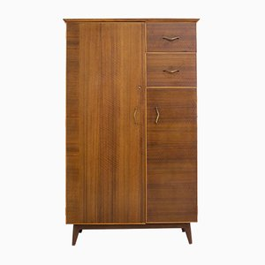 Mid-Century Walnut Compactum Wardrobe or Tallboy from White & Newton, 1960s