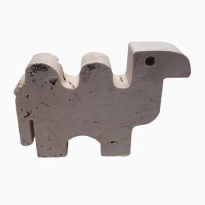 Rapolano Travertine Camel Sculpture by Fratelli Mannelli, 1970s