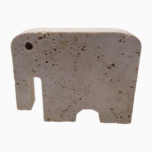 Rapolano Travertine Elefanten Skulptur von Fratelli Mannelli, 1970er