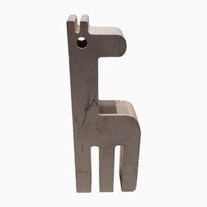 Escultura Rapolano de jirafa de travertino de Fratelli Mannelli, años 70