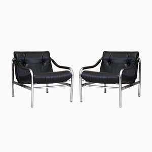 Mid-Century Armchairs by Tim Bates for Pieff, Set of 2
