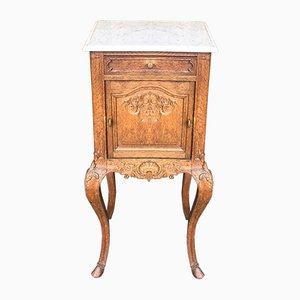 Antique French Oak Bedside Cupboards or Nightstands, Set of 2