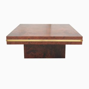 Mid-Century Coffee Table in Burl Wood Attributed to Mario Sabot, Italy, 1968